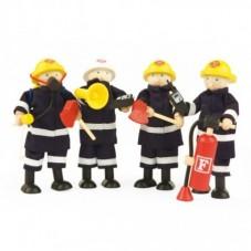 Figurines Pompier Bois