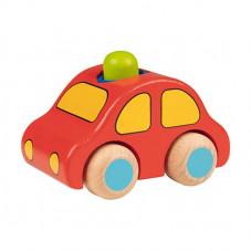 voiture en bois rouge