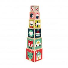 cubes empilables en bois