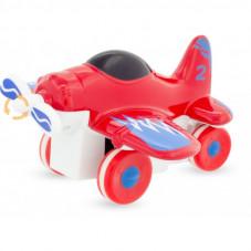 avion à hélice rouge