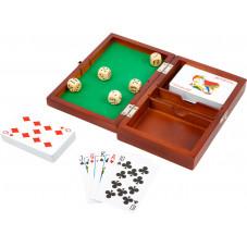boite de jeux de cartes et dés