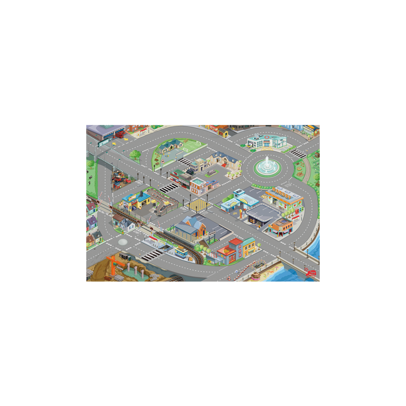 tapis de sol circuit de voitures toy van