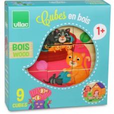 Cubes en bois animaux vilac