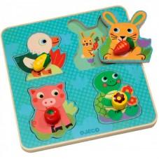 Puzzle bois croc-carrot djeco
