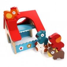 Minifarm djeco jouet d'éveil bois