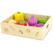 Légumes à découper en bois jouet d'imitation