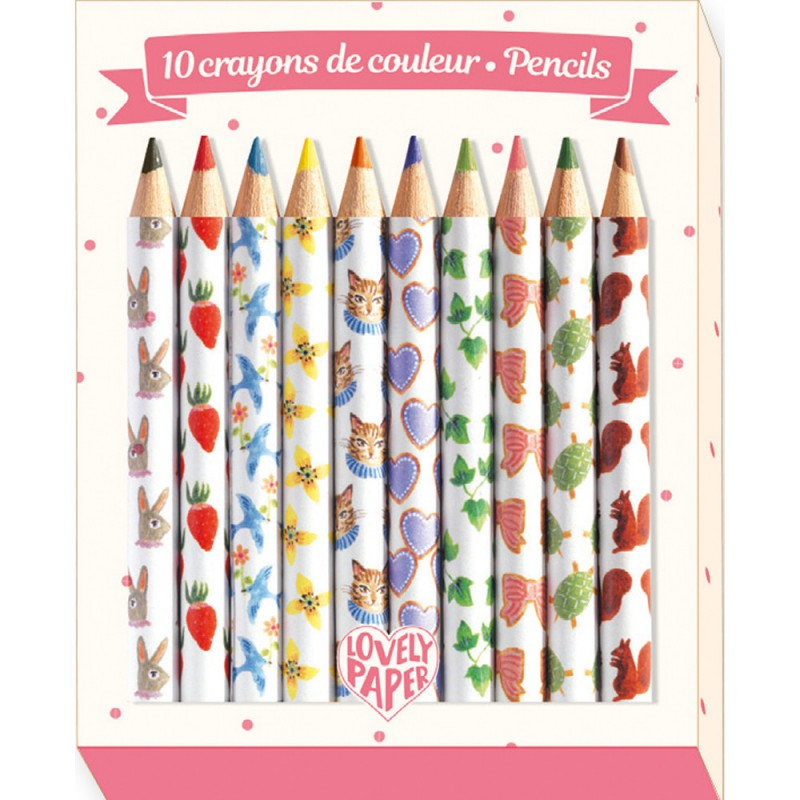 petits crayons de couleurs djeco