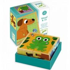 Jouet d'éveil en bois cube puzzle Djeco