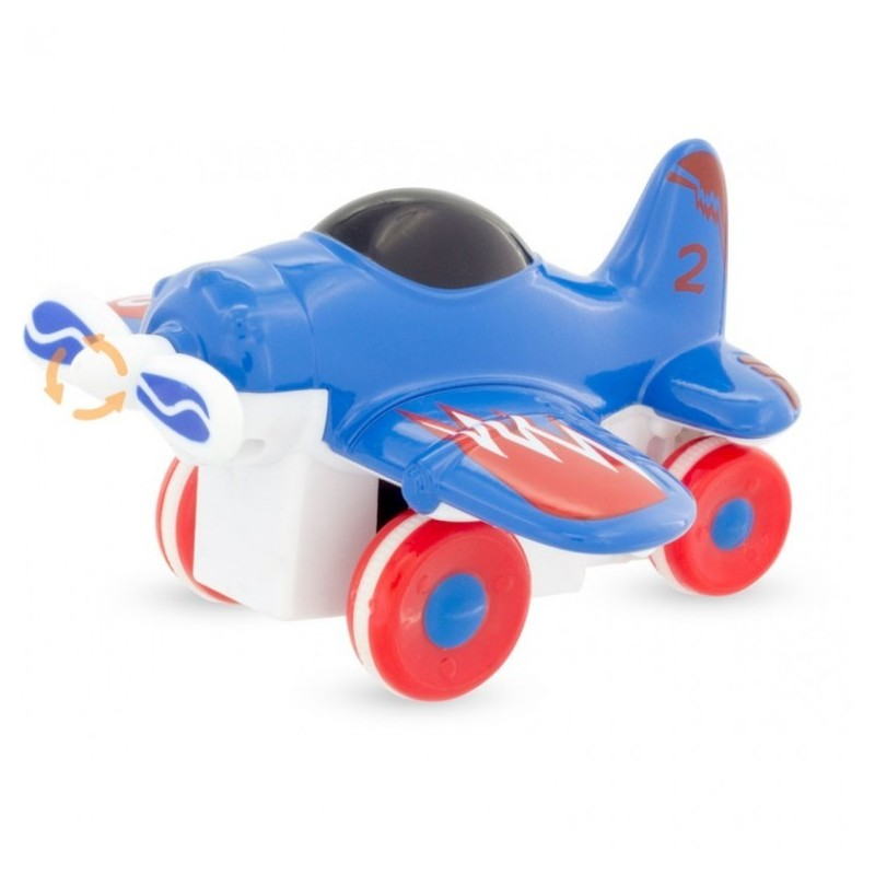 avion à friction bleu