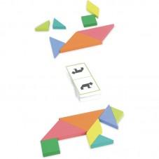 Jeu de défi tangram