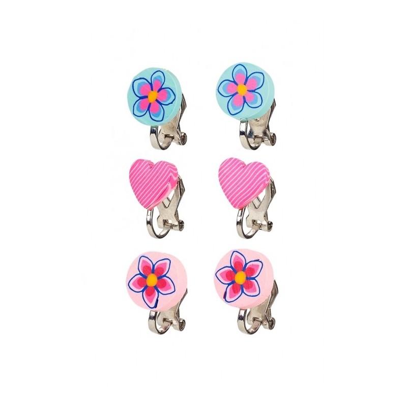 Boucles Boucles D'oreilles Bleues Bleues Roses D'oreilles Clips Roses Clips Boucles e2EDIYW9Hb