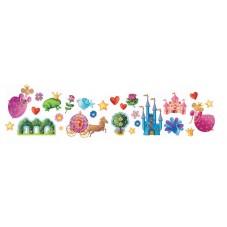 Stickers muraux princesse djeco décoration de chambre enfant