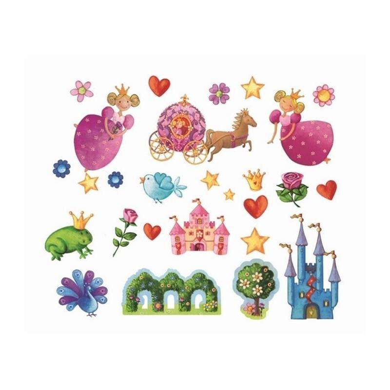 Stickers repositionnables princesse djeco