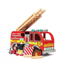 Camion de pompiers bois le toy van