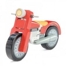 Moto en bois toy van