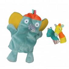 Marionnette éléphant et croco et girafe marionnette à doigts