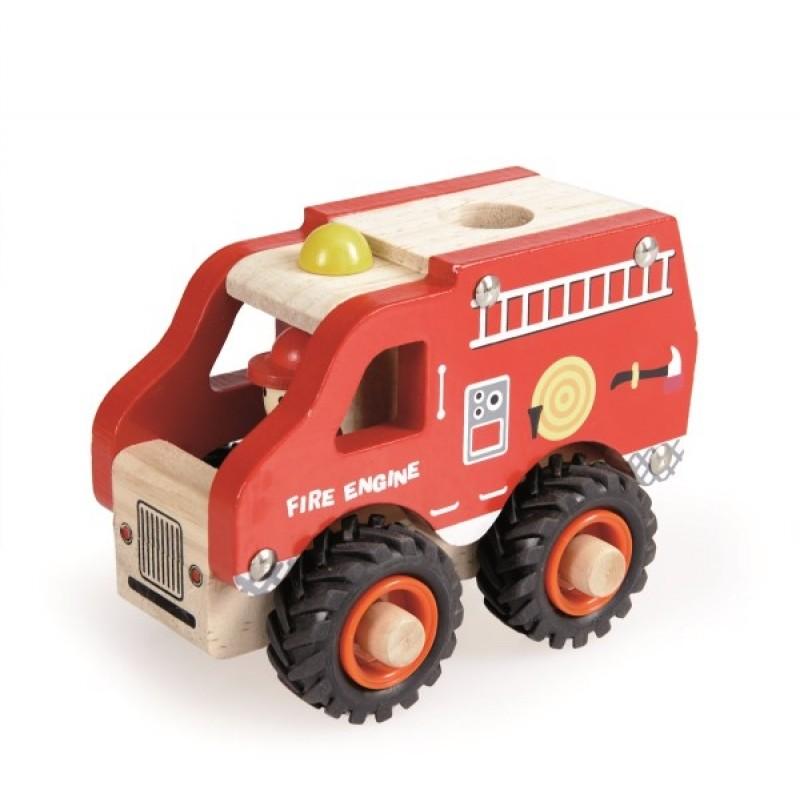 Camion de pompiers bois