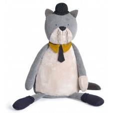 Peluche géante chat moulin roty