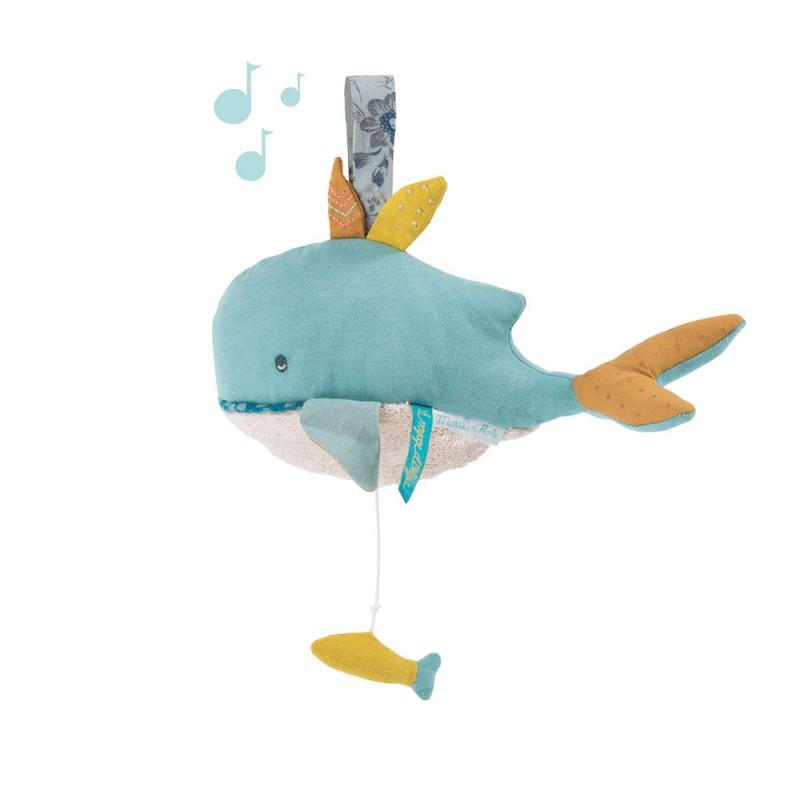 Peluche musicale baleine Le voyage d'Olga
