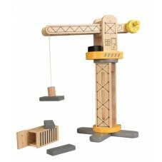 grue de chantier bois
