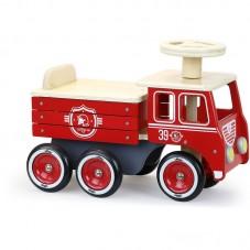 porteur camion d pompier bois