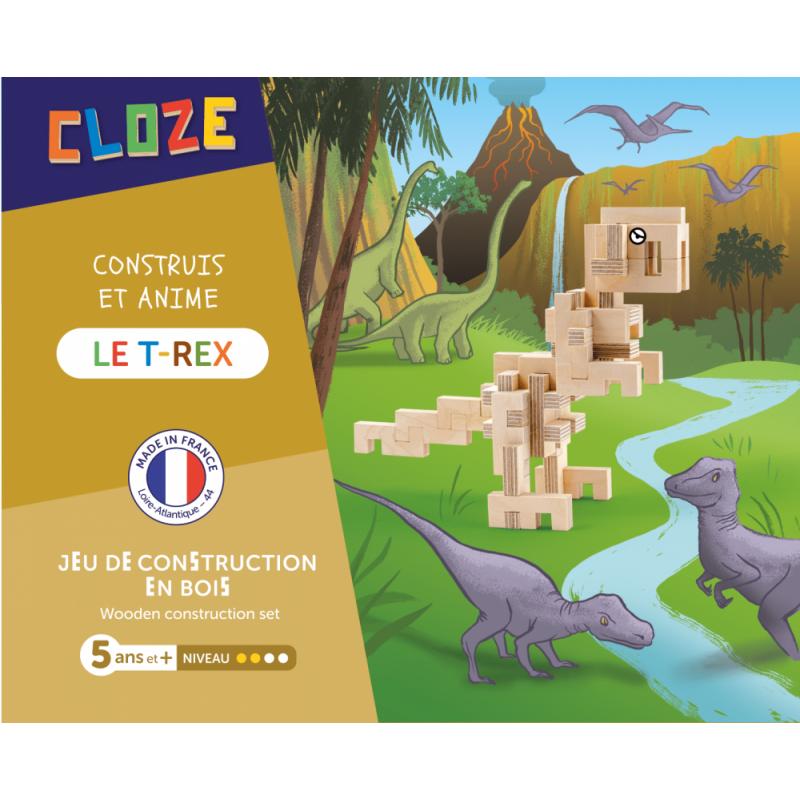 jeu de construction en bois dinosaure cloze