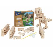 dinosaure jeu de construction en bois france cloze pas cher
