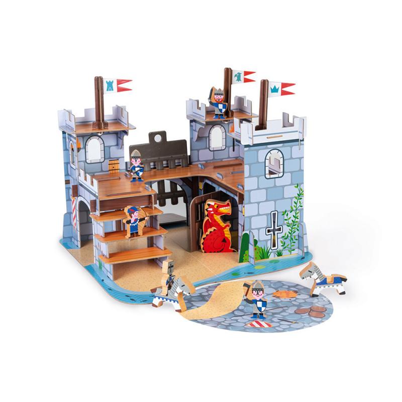 chateau fort en bois et carton
