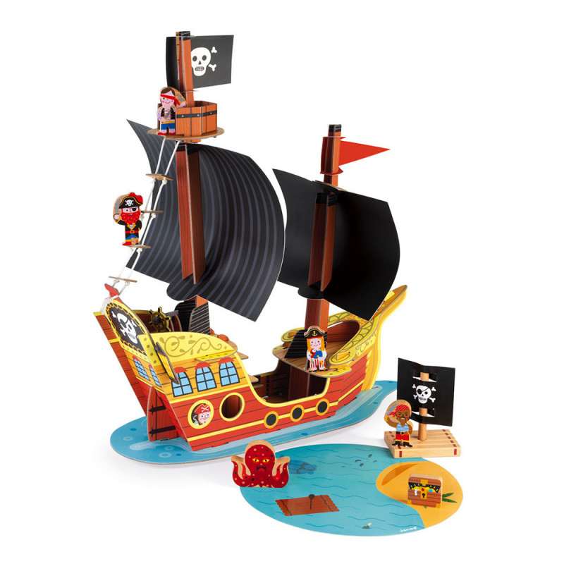 bateau de pirates janod pas cher
