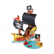 bateau de pirates en bois et carton maquette