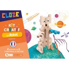 robot à construire en bois cloze