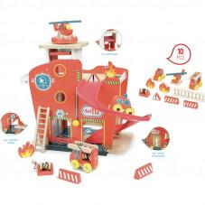 caserne de pompiers en bois vilac pas chère
