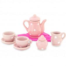 Dînette en porcelaine rose