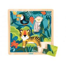 puzzle bois la jungle djeco