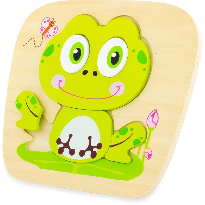 puzzle en bois grenouille 6 pièces
