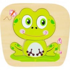 puzzle en bois grenouille 1 an