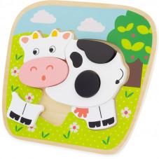 puzzle vache en bois à partir de 1 an