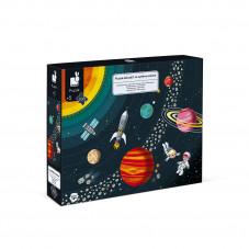 puzzle éducatif et ludique de janod à partir de 5 ans planètes