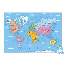 puzzle éducatif les curiosités du monde janod