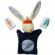marionnette à doigt et à main lapin ebulobo