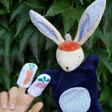 marionnette à main lapin jouet imagination