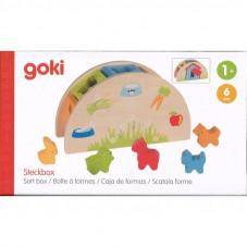 boite à formes en bois animaux goki