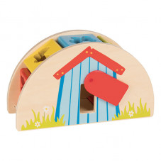 boite à formes goki jouet d'éveil bois