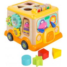 bus en bois jouet d'éveil