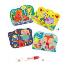 Coloriages animaux des bois enfant