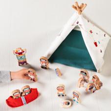 jouet d'éveil en bois et tissu lilliputiens