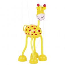marionnette girafe articulée en bois goki