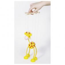 marionnette girafe en bois goki