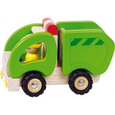 camion poubelle en bois 2 ans