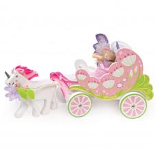 carrosse et licorne en bois le toy van